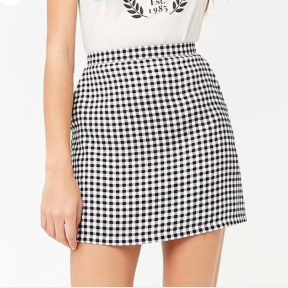 7008f80d5e4 Gingham Print Mini Skirt